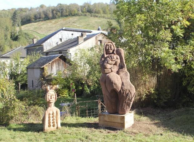 le Jardin des Sculptures à Saint-Sever-du-Moustier