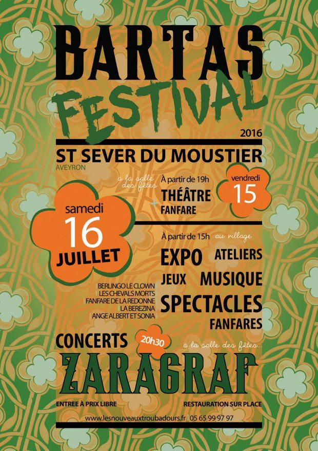 Affiche du Bartas Festival 2016